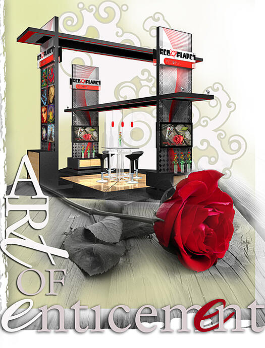 4 side open booth design