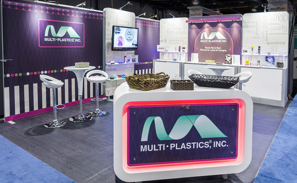 booth accessories and storage