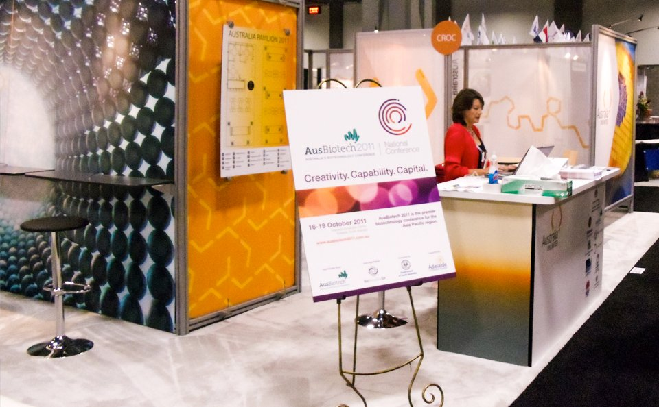 island booth conference walls