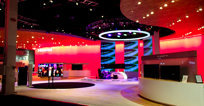 booth design: A SWANKY FEAST FOR THE SENSES