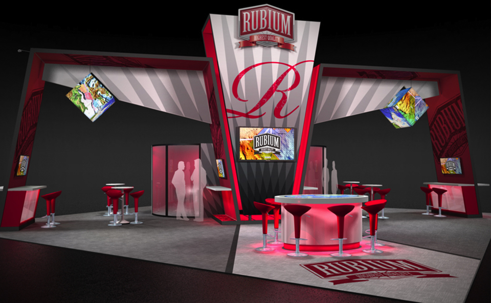 conference room island booth design