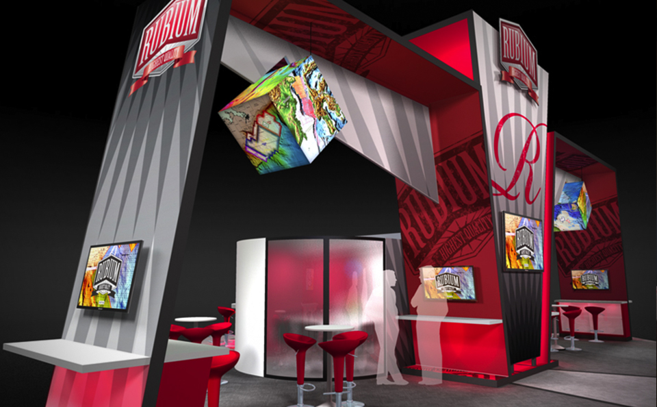 central structure island booth design
