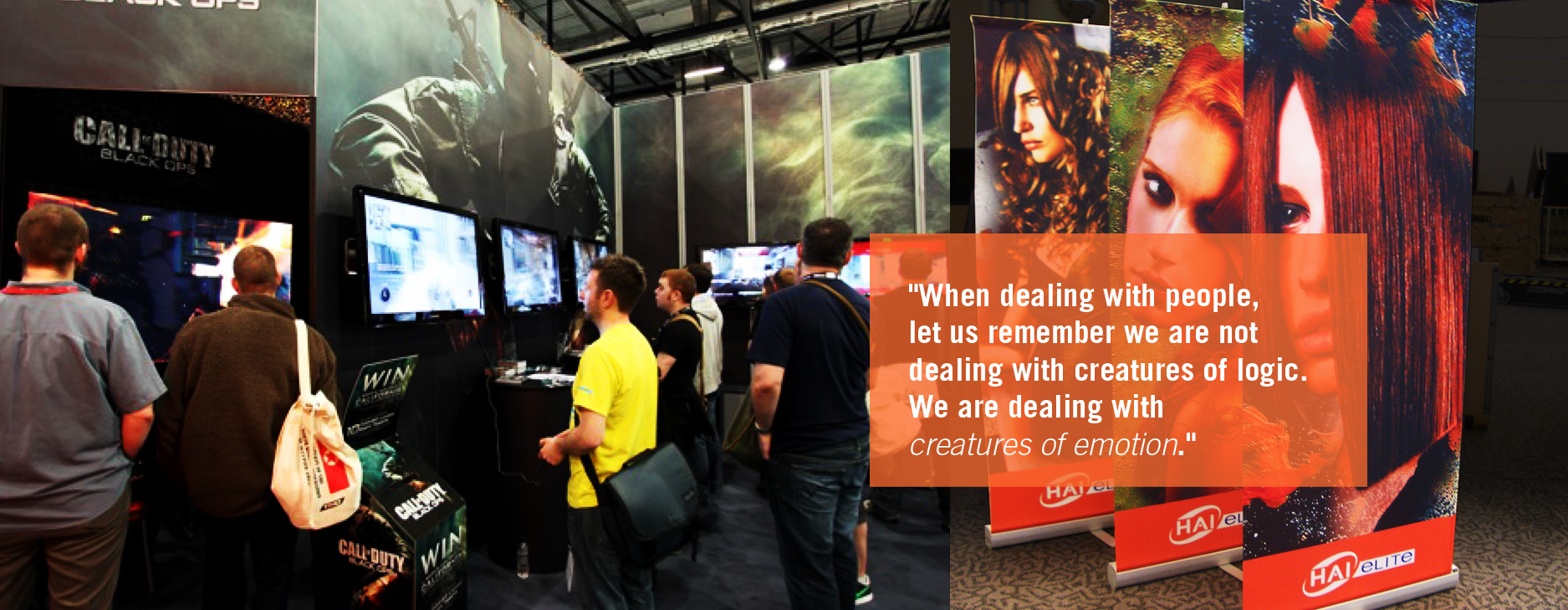 booth design ideas for emotional interaction