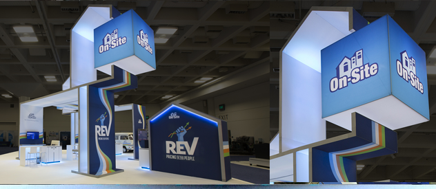 branded 3D exhibit stand design
