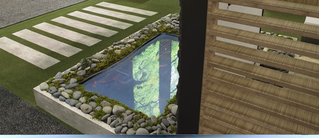 koi pond technology for an immersive technology