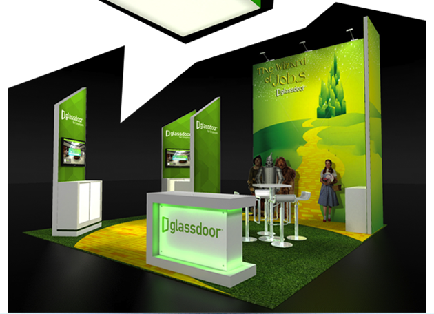 booth design wizard of jobs