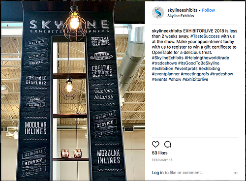 instagram posts for trade shows to create likes