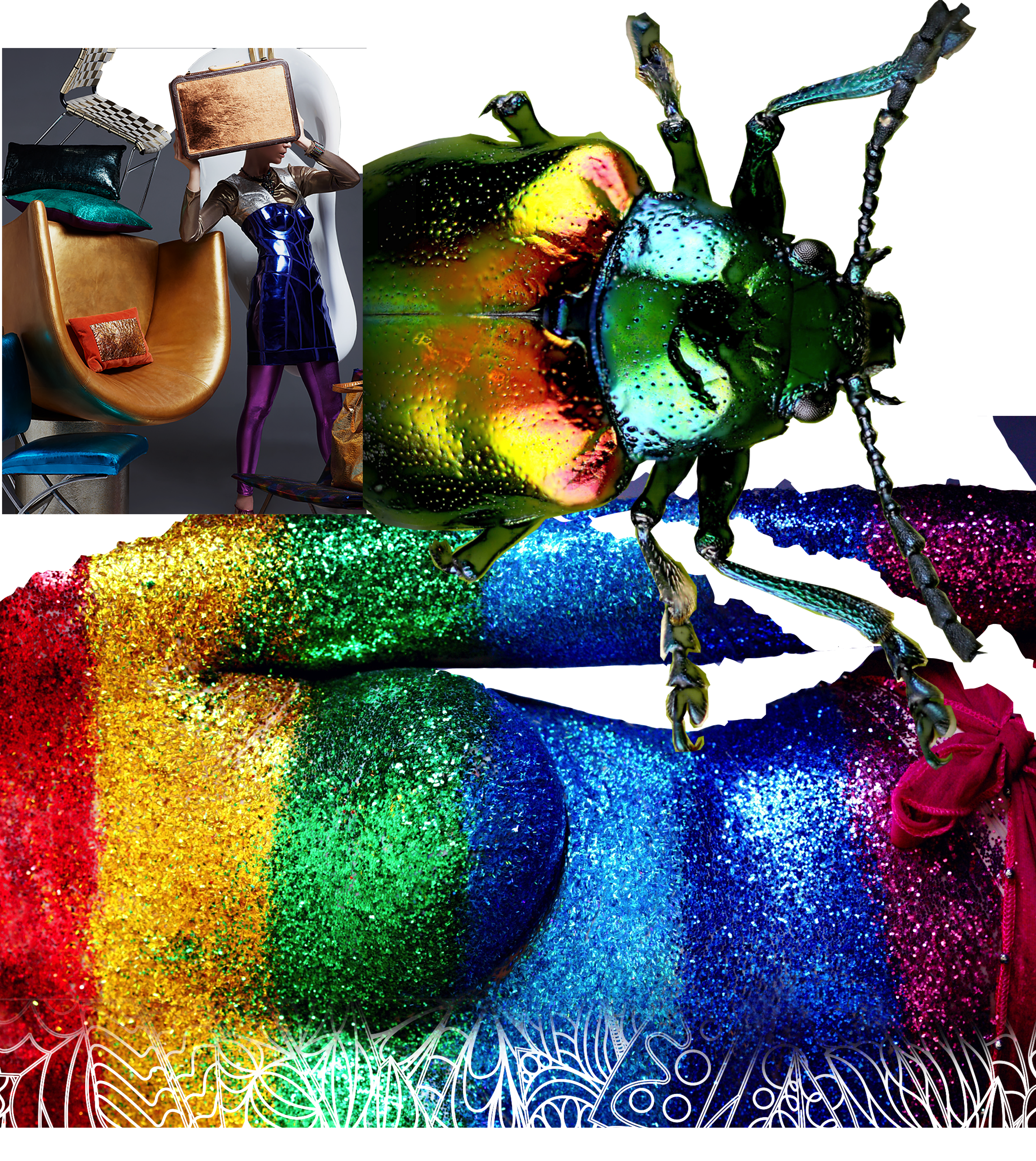 simmer and glitter in your booth design