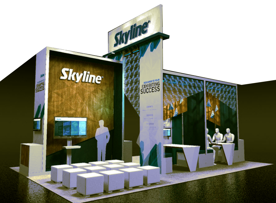 DESIGN THE BOOTH FOR MINI PRESENTATION EVERY HOUR ON THE HOUR