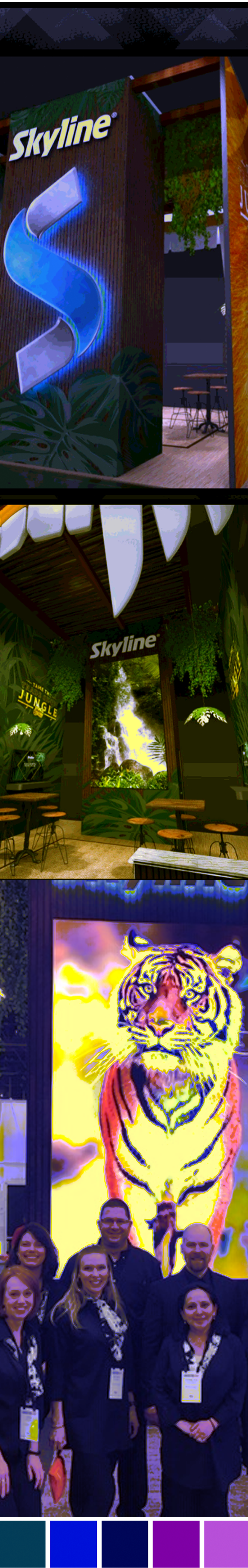booth design to build awareness with exotic