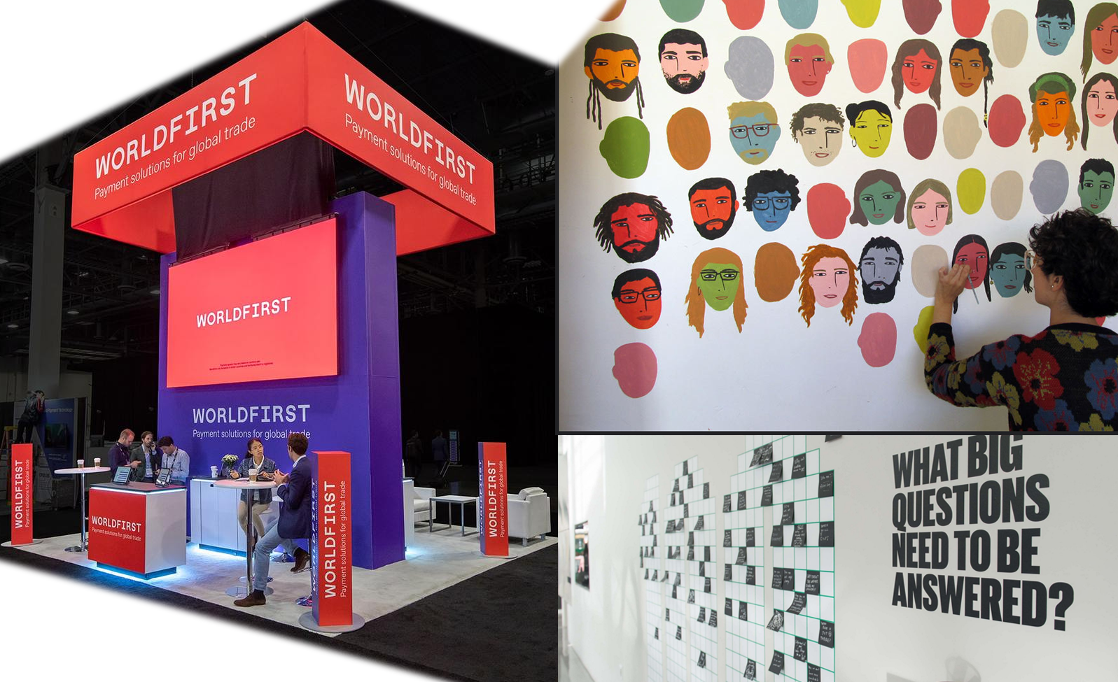 booth design with low tech interactives