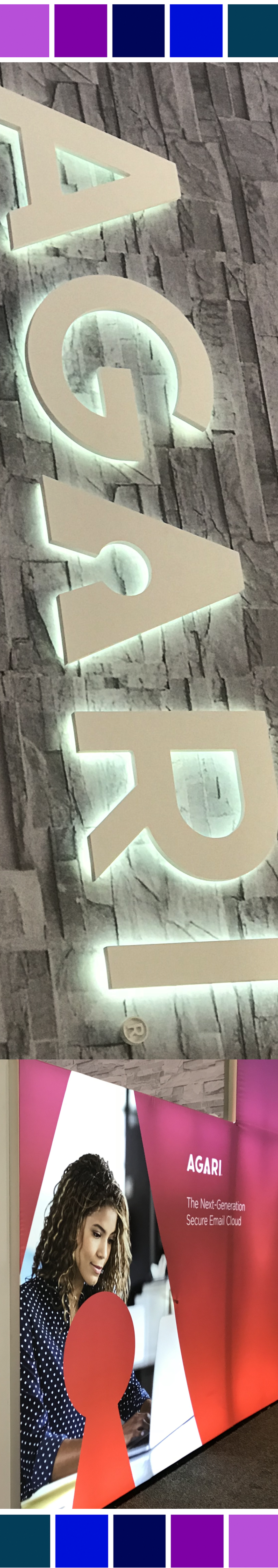 3D typography on a booth