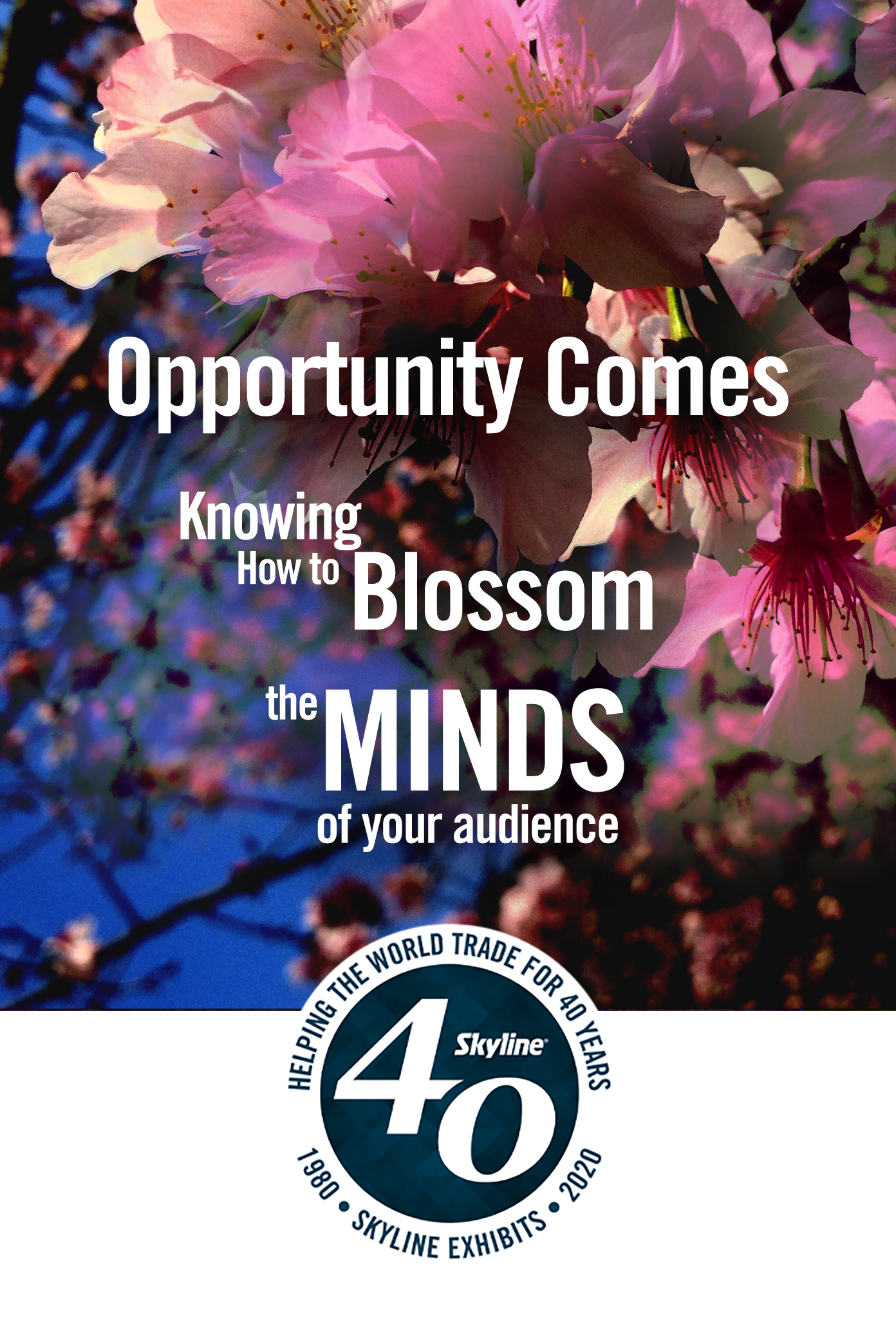 opportunity comes knowing how to blossom the minds of your audience
