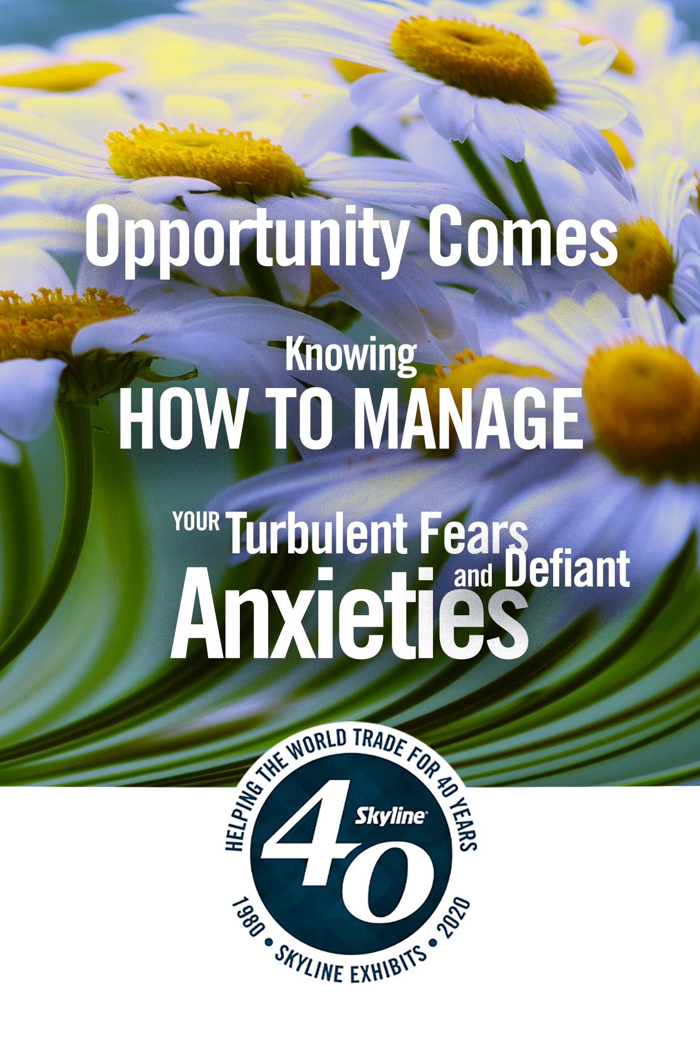 opportunity comes knowing how to manage turbulent fears and defiant anxieties