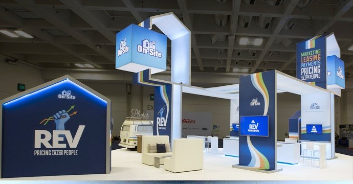 island booth with backlit cubes.jpg