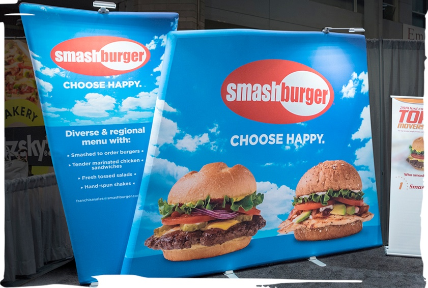 burger portable trade show display