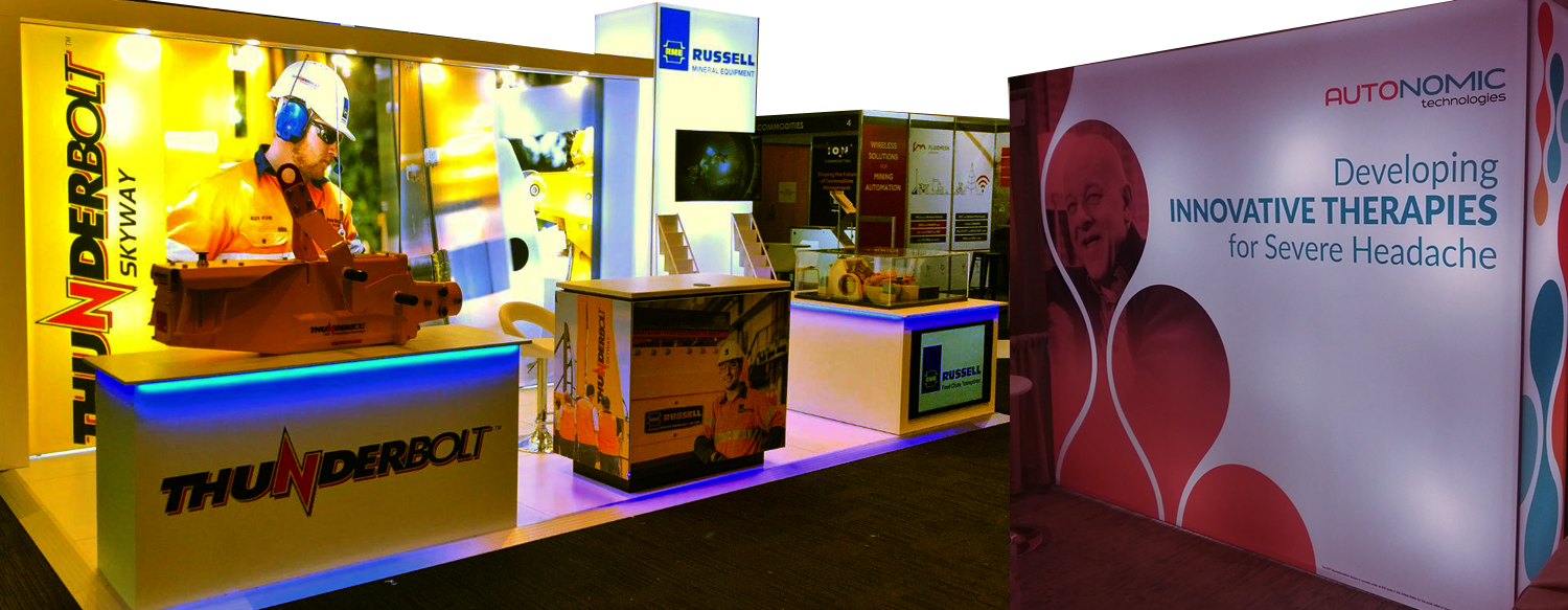dynamic booth design for construction and healthcare