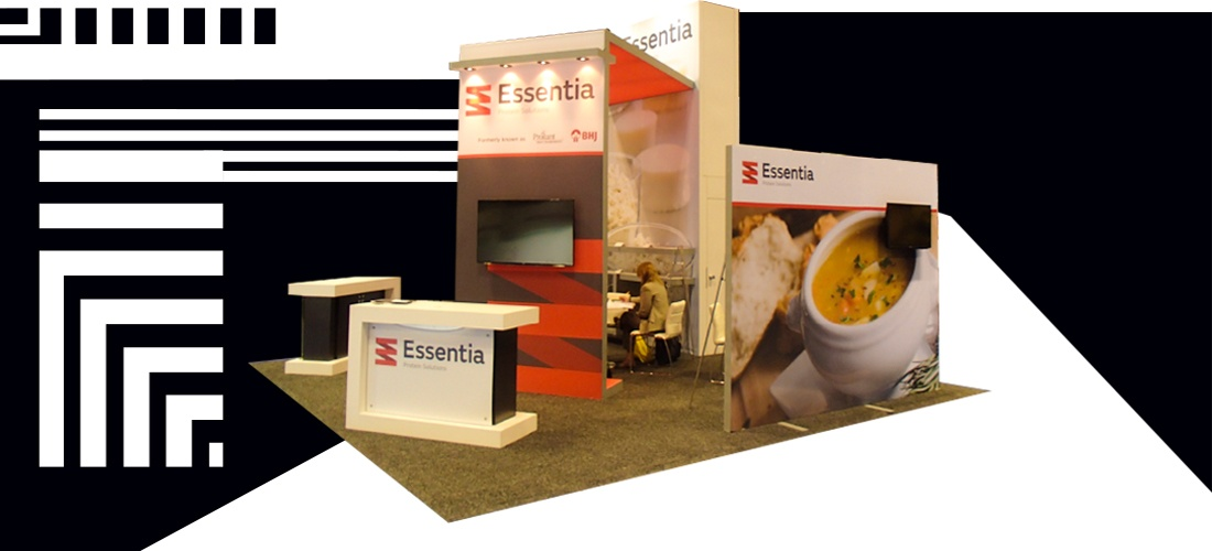 booth design with storage