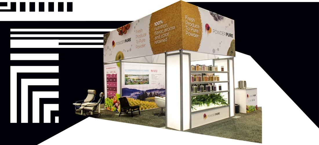isalnd booth design for hospitality