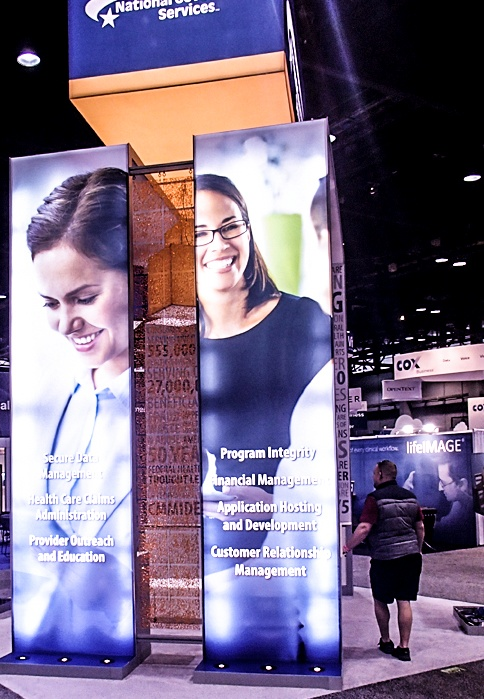 backlit trade show booth design